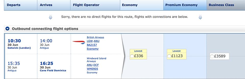 British Airways Dominica