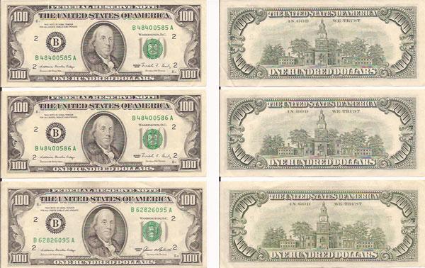 Картинки доллары для печати на принтере, набор открыток